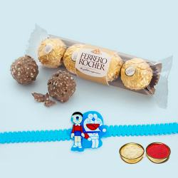 Cool Kids Rakhi with 3pc Ferrero Rocher Chocolates
