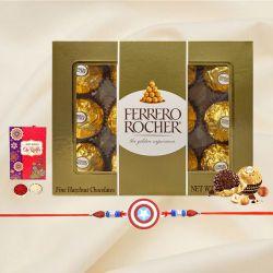 Trendy Kids Rakhi with 12pc Ferrero Rocher Pack