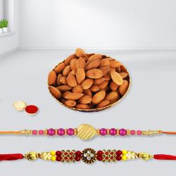 Amazing Pair of Rakhi with Crunchy Almonds