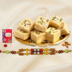 Fantastic Gift of Rakhi with Haldiram Soan Papadi