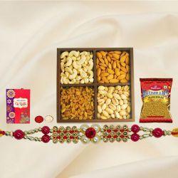 Charming Rakhi with Haldiram Bhujia n Dry Fruits