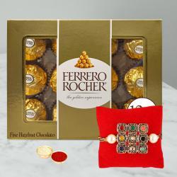 Auspicious Rakhi with Ferrero Rocher