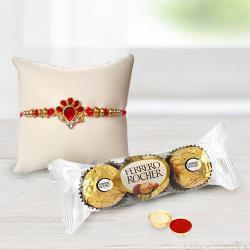 Fancy Rakhi with Delicious Ferrero Rocher