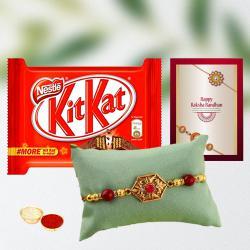 Fancy Rakhi with Crunchy Kit Kat