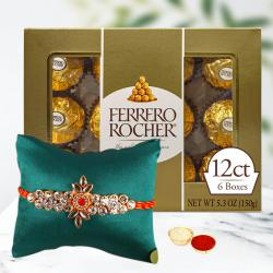Delectable Pack of Ferrero Rocher with Rakhi