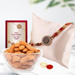 Crunchy Cashews N Fancy Rakhi Combo