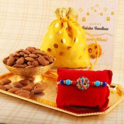 Beautiful Rakhi with Nutritious Almonds
