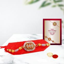 Dazzling Rakhi with Free Roli Teeka Chawal N Rakhi Card