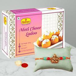 Admirable Gift of Rakhi with Boondi Laddoo
