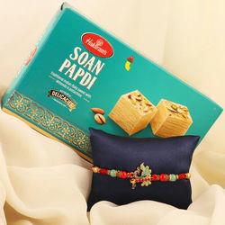 Pious Rakhi N Tasty Soan Papdi Gift Pack