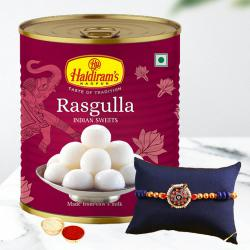 Fancy Rakhi N Juicy Rasgulla Gift Pack