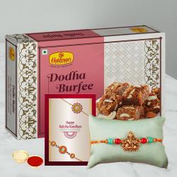 Fancy Rakhi with Delicious Dodha Barfi