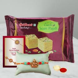 Exclusive Rakhi and Delicious Soan Papdi Pack