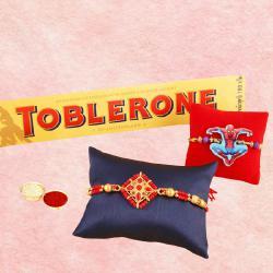 Appealing Bhaiya N Kids Rakhi with Toblerone