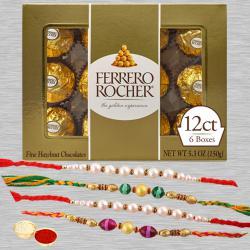 Admirable Pack of 4 Rakhis with Ferrero Rocher