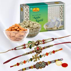 Delight Gift of Rakhi with Sweets N Dry Fruits