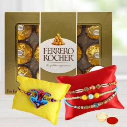 Traditional Bhaiya N Kids Rakhi with Ferrero Rocher