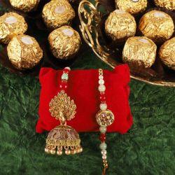 Delightful Pair of Bhaiya Bhabhi Rakhi with Ferrero Rocher