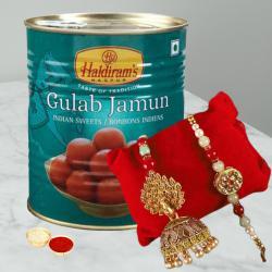 Lip Smacking  Gulab Jamun Pack with Bhaiya Bhabhi Rakhi Pair