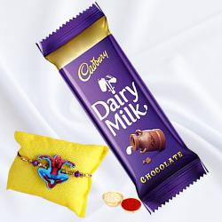 Yummy Cadbury Dairy Milk with Fancy Kids Rakhi