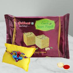 Trendy Kids Rakhi N Soan Papdi Pack with Free Roli Chawal
