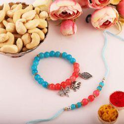 Traditional Gift of Rakhi N Cashews with Free Roli Chawal