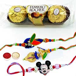 Charming Bhaiya Bhabhi & Mickey Rakhi with FR 3 pcs