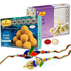 Charming Bhaiya Bhabhi Rakhi with 2 Sweets