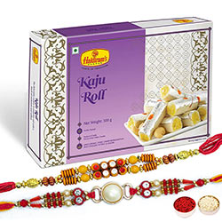 Stunning Bhaiya Bhabhi Rakhi with Kanju Anjeer Roll