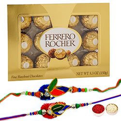 Rakhi Pair & Ferrero 12pc