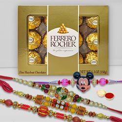 Mickey Rakhi Set with Ferrero