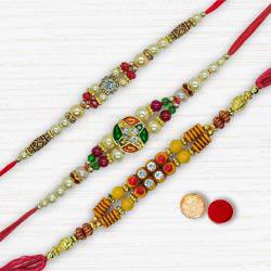 3 Colorful Rakhis