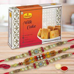 2 Rakhis & Milk Cake