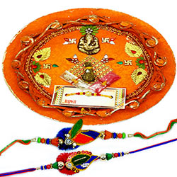 Beads Rakhi with Thali