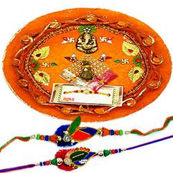 Beads Rakhi with Thali