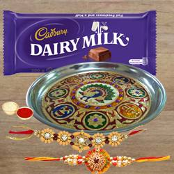 Rakhi Thali Set with Cadbury