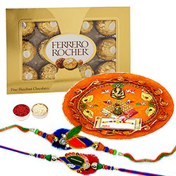 Rakhi Thali with FR 12pc