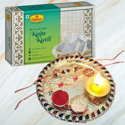 Rakhi Thali Set with Kaju Katli