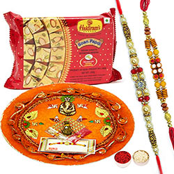 Rakhi Thali Set with Soan Papdi