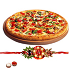 Amazing Dominos Pizza Gift Card with Free Kids Rakhi, Roli Tilak and Chawal on the Occasion of Raksha Bandhan