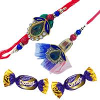 Zardozi Rakhi with Chocolates