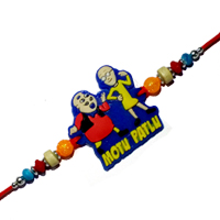 Attractive One Motu Patlu Rakhi for your Younger Brother with Free Roli and Tilak