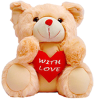 "8"" Teddy Bear ( White / Pink / Red )"