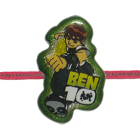 Attractive Raksha Bandhan Gift Set of 1 Ben 10 Rakhi along with free Roli and Tikka for your Kid Brother