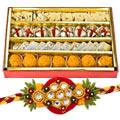 Assorted Sweets with Rakhi