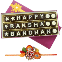 Rakshabandhan Homemade Chocolates with Om Rakhi