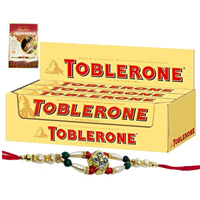 Delightful Toblerone with Free Nice Rakhi