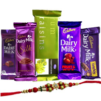 Treat of Chocolates from Cadburys with Rakhi