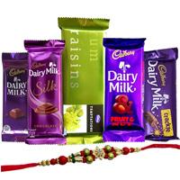 Treat of Chocolates from Cadburys with Rakhi