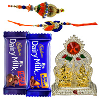Bhaiya Bhabhi Rakhi Set with Chocolates n Ganesh Mandap